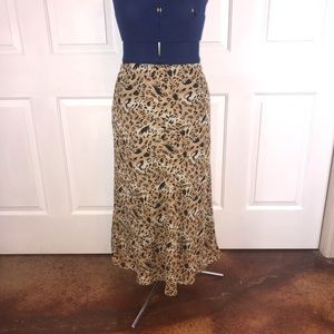 Size 14 Leopard print lined maxi skirt